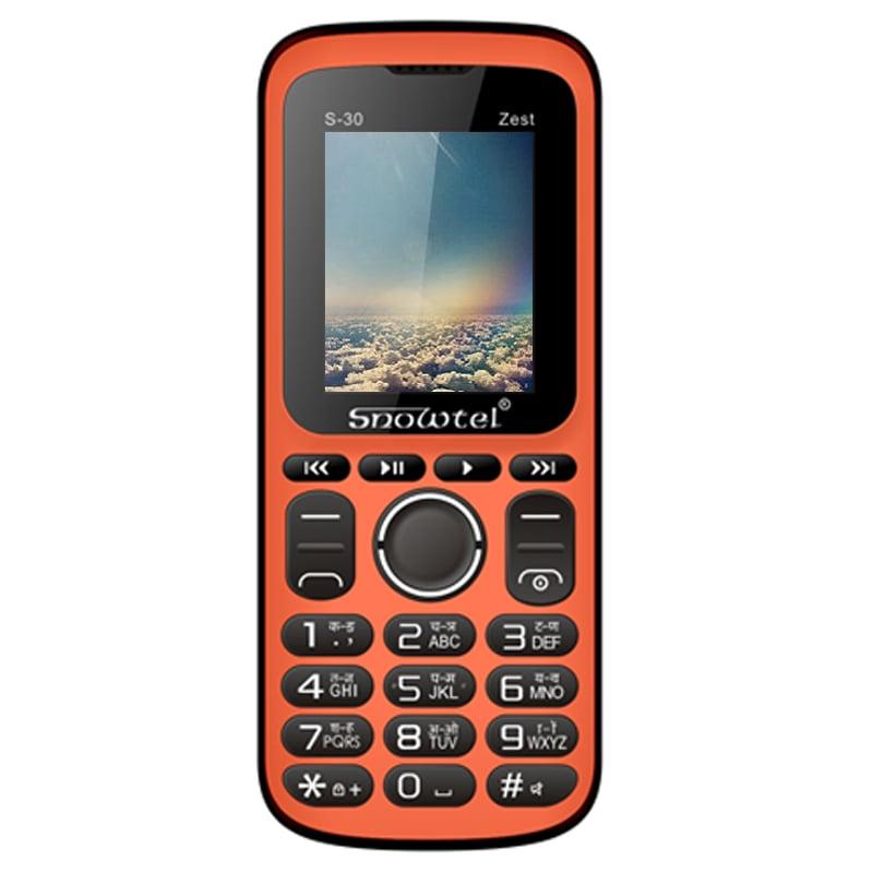 snowtel s 30 zest dual sim feature phone black and orange price in india buy snowtel s 30 zest. Black Bedroom Furniture Sets. Home Design Ideas