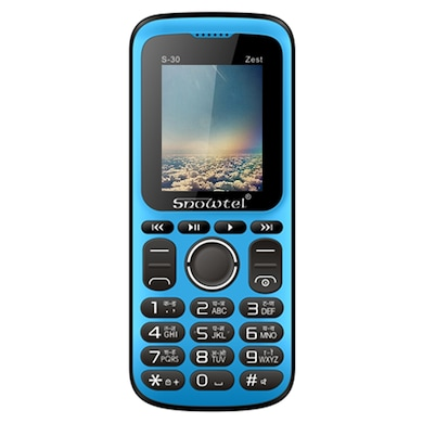 Snowtel S-30 Zest Dual Sim Feature Phone (Black and Blue) Price in India