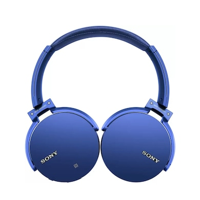 Sony MDR-XB950B1 Bluetooth Headset with Mic Blue Price in India