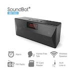 Buy SoundBot SB1023 Bluetooth FM Radio Alarm Clock Bluetooth Speaker Black Online