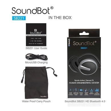 SoundBot SB221 Wireless Bluetooth Headset with Mic Black Price in India