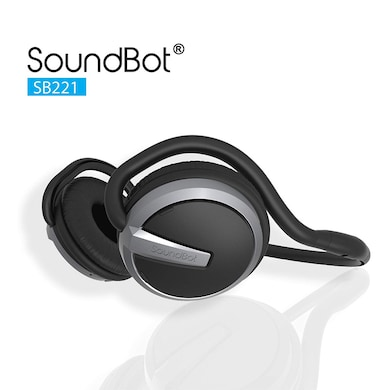 SoundBot SB221 Wireless Bluetooth Headset with Mic Grey and Black Price in India