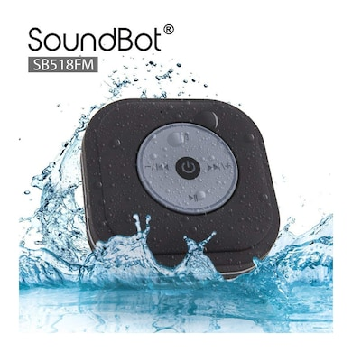 SoundBot SB518FM Shower Bluetooth Speaker Black Price in India