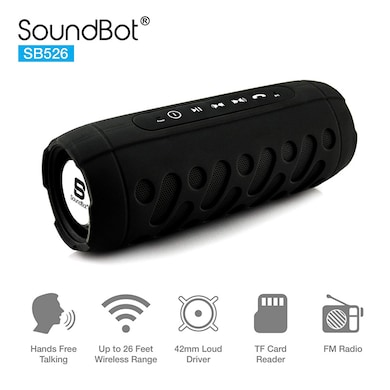 SoundBot SB526 8 W Bluetooth Speaker Black Price in India