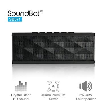 SoundBot SB571 12W Bluetooth Wireless Speakers Black Price in India