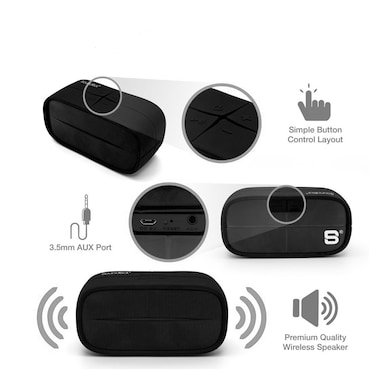 SoundBot SB572 Bluetooth Speakers Black Price in India