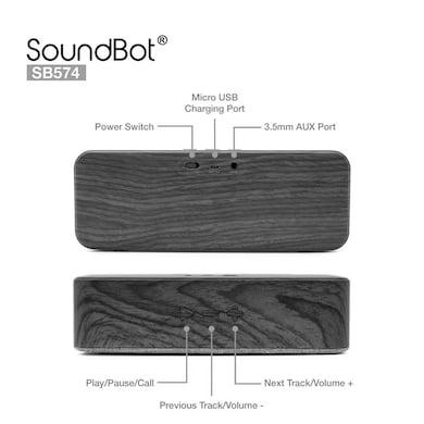 SoundBot SB574 Bluetooth 4.2 Wireless Speaker Grey Price in India