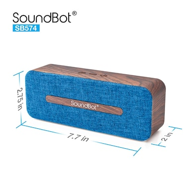 SoundBot SB574 Bluetooth 4.2 Wireless Speaker Blue Price in India