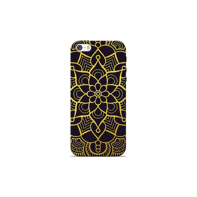 new product 13d7e ae844 Sowing Happiness Black And Gold Mandala Back Cover for Apple iPhone 5S