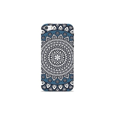 Sowing Happiness Check Blue Pattern Back Cover for Apple iPhone 5S Multicolor Price in India