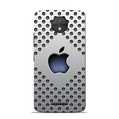 Sowing Happiness Limited Apple Premium Blue Designer Moto C Plus Back Cover Multicolor Price in India