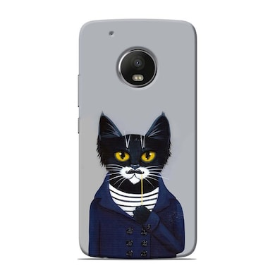 best cheap df7e1 1a0fc Sowing Happiness Limited Cat With Moustache Back Cover For Motorola Moto G5  Plus