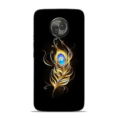 brand new 3a480 8aed7 Sowing Happiness Limited Lord Krishna Feather Designer Motorola Moto X4  Back Cover