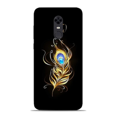 newest f7faa 4353f Sowing Happiness Limited Lord Krishna Feather Designer Xiaomi Redmi 5 Back  Cover