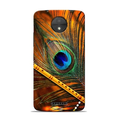 Sowing Happiness Limited Lord Krishna Mor Pankh Designer Moto C Plus Back Cover Multicolor Price in India