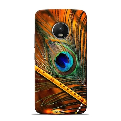 Sowing Happiness Limited Lord Krishna Mor Pankh Designer Moto G5s Back Cover Multicolor Price in India