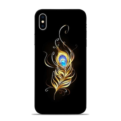Sowing Happiness Lord Krishna Feather Designer Apple iPhone X Back Cover Multicolor Price in India