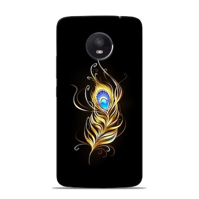 brand new 2a144 0e7dd Sowing Happiness Lord Krishna Feather Designer Moto E4 Plus Back Cover