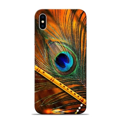 Sowing Happiness Lord Krishna Mor Pankh Designer Apple iPhone X Back Cover Multicolor Price in India