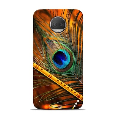 Sowing Happiness Lord Krishna Mor Pankh Designer Moto G5s Plus Back Cover Multicolor Price in India