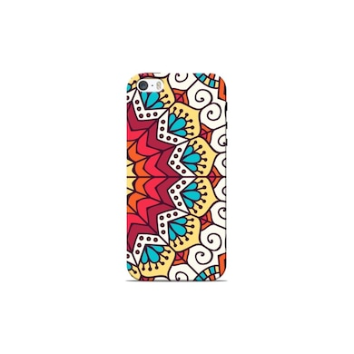 Sowing Happiness Mandala White Pattern Back Cover for Apple iPhone 5S Multicolor Price in India