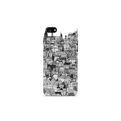 Sowing Happiness Sketch Scenary Pattern Back Cover for Apple iPhone 7 Multicolor Price in India