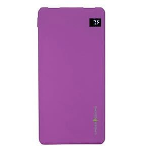 Spider Designs Ysbao Li-Polymer Slimmest Power Bank 10000 mAh With Dual USB Port Purple