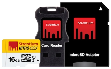 Strontium Nitro 16 GB Class 10 MicroSDHC Memory Card with Adapter and Card Reader 16 GB Price in India