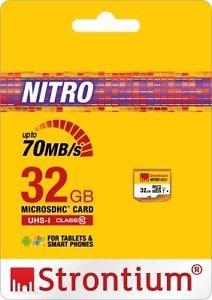 Strontium Nitro 32 GB Class 10 MicroSD Memory Card 32 GB Price in India