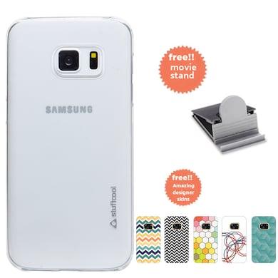 cheaper 86b64 ab775 Stuffcool CLAIR Fab Transparent Hard Back Case Cover For Samsung ...
