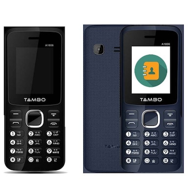 Tambo A1806 Combo Of Two Mobile (Black and Blue, NA) Price in India