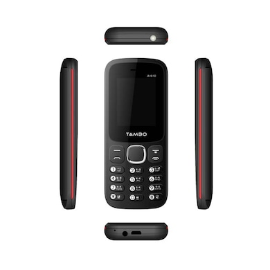 Tambo A1810 Dual SIM,Torch,Wireless FM,Bluetooth (Black and Red) Price in India