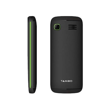 Tambo A1810 Dual SIM,Torch,Wireless FM,Bluetooth (Black and Green) Price in India