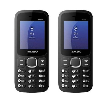 Tambo A1810 Combo Of Two Mobile (Black and Red, NA) Price in India