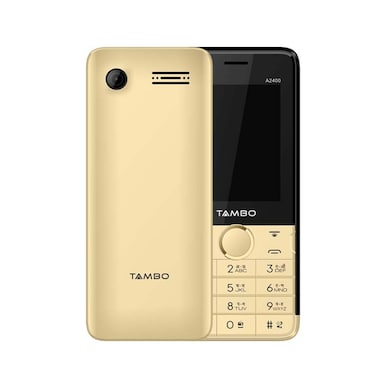 Tambo A2400, 2.4 Inch Display, Wireless FM, Camera,Bluetooth (Gold) Price in India