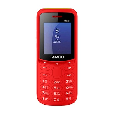 Tambo P1870, Torch,Rear Camera,2500 mAh Battery (Red) Price in India