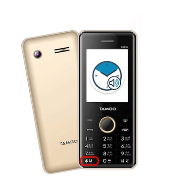 Tambo S2430, 2.4 Inch Display,Wireless FM,Camera,Bluetooth (Champagne) Price in India