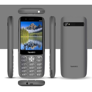 Tambo S2830, 2.8 Inch Screen, Front Selfie Camera,Wireless FM,Torch (Steel Grey) Price in India