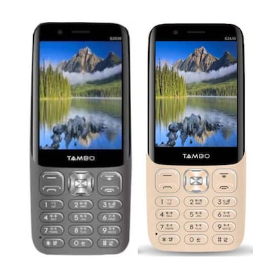 Tambo S2830 Combo Of Two Mobile (Steel Grey and Champagne) Price in India