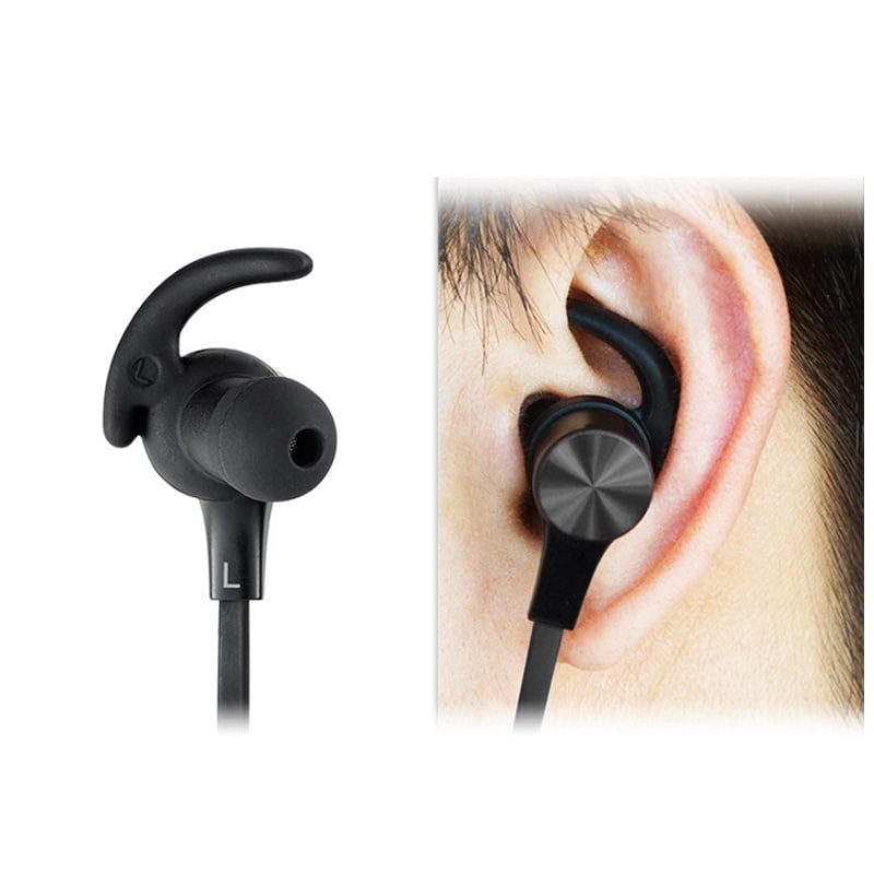 Black technology bluetooth earphones - bluetooth earbuds black and red