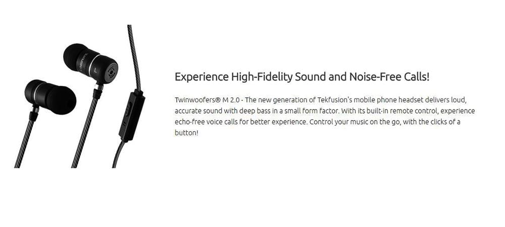 Tekfusion Twinwoofers M 2.0 In-Ear Headset With Mic Photo 5