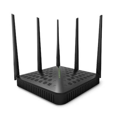 Tenda TE-FH1202 Wireless AC1200 Dual Band Gigabit High Power Router With 5 Outdoor Antenna Black Price in India