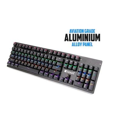 Texet Shift Flamer Real Mechanical Gaming Keyboard + XXL Aluminium Metal Mousepad Black Price in India