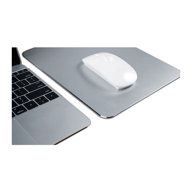 Texet XXL Aluminum Metal Mouse Pad Silver Price in India