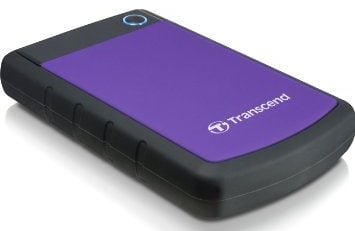 Transcend StoreJet 25H3P 1 TB Portable External Hard Disk Purple Price in India