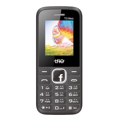 Trio T3 Neo 1.8 Inch Display Cell Phone With Digital Camera (Black and Red) Price in India