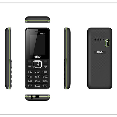 Trio T4 Selfie 1.77 Inch Display Cell Phone With Digital Selfie Camera (Black and Green) Price in India