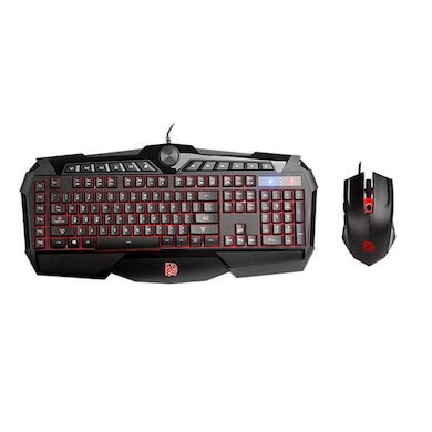Tt esports CHALLENGER PRIME RGB Membrane Gaming Gear Keyboard and Mouse Combo Black Price in India
