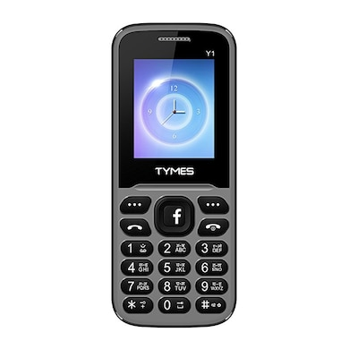 TYMES Y1 Ultra 1.8 Inch Display Cell Phone With Digital Camera (Grey and Black) Price in India