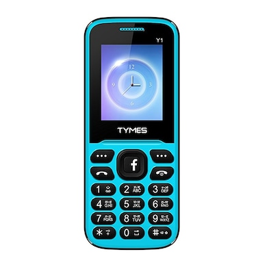 TYMES Y1 Ultra 1.8 Inch Display Cell Phone With Digital Camera (Blue and Black) Price in India